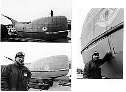 Tom with Moby as she is built